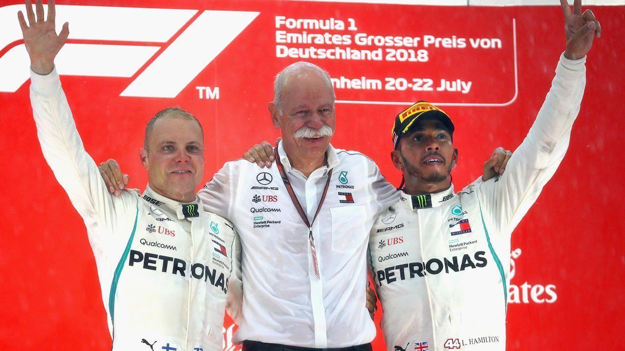 Dieter Zetsche, Lewis Hamilton