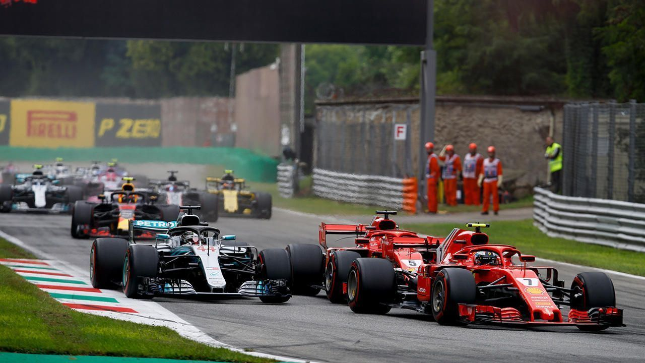 Lewis Hamilton, Sebastian Vettel & Kimi Raikkonen