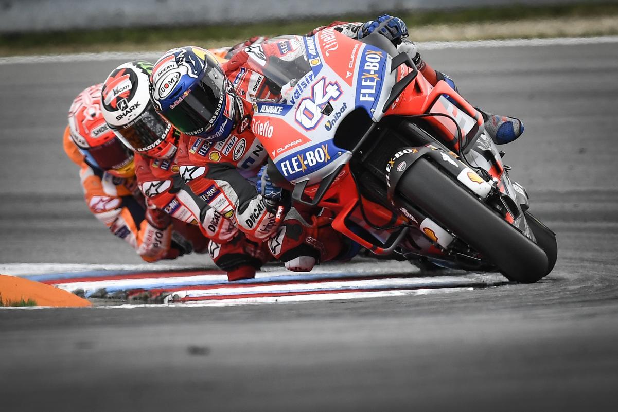 Andrea Dovizioso, Jorge Lorenzo and Marc Marquez