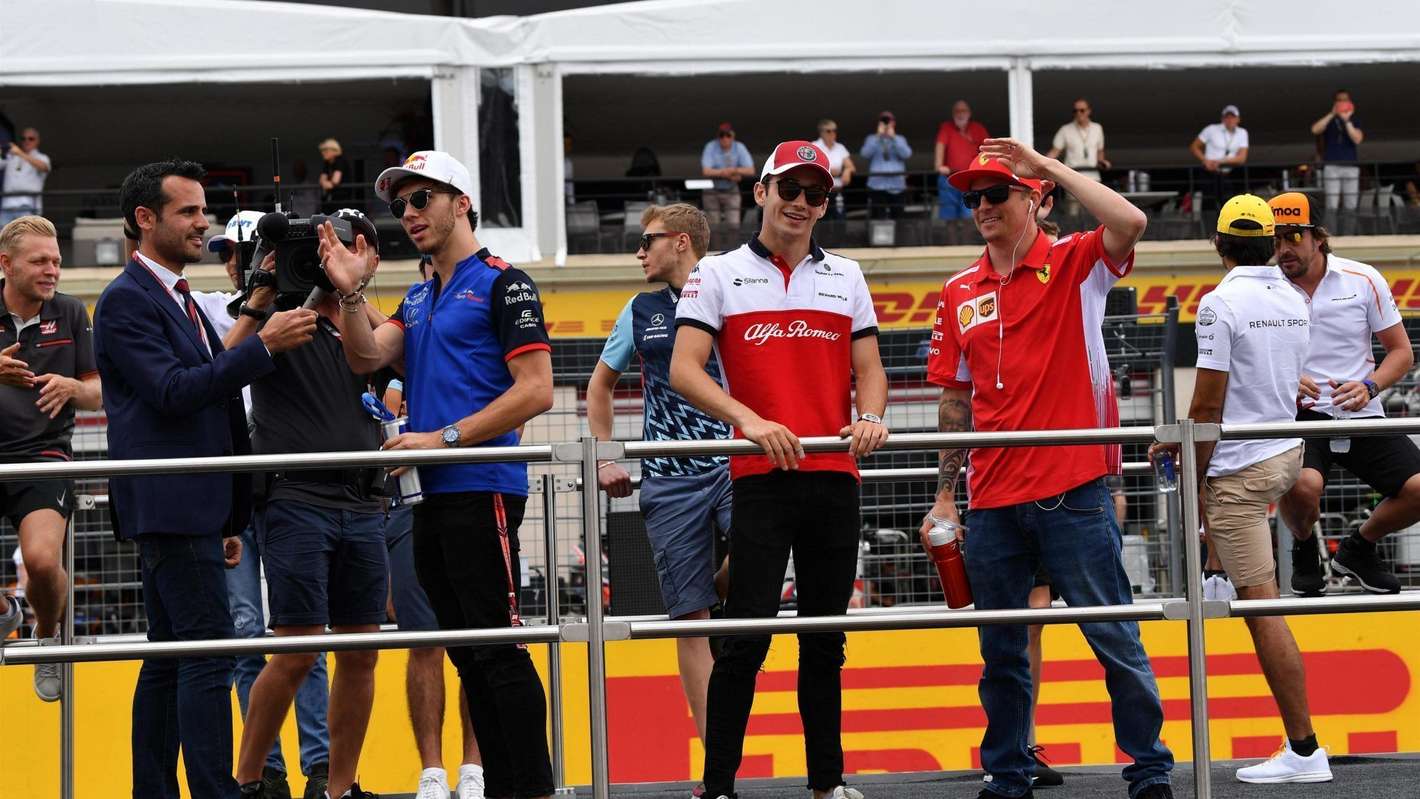 Charles Leclerc and Kimi Raikkonen