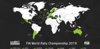 WRC 2019 calendar