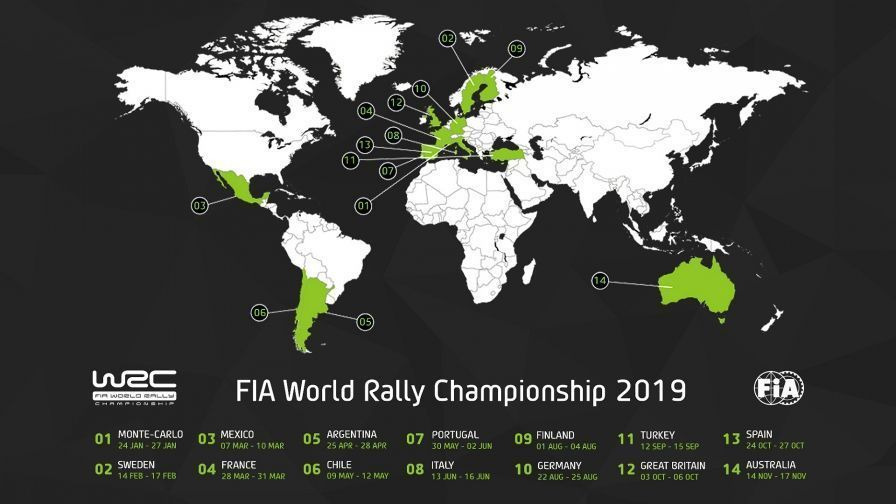 Calendario Wrc 2019.Chile Vuelve Al Calendario Del Wrc Y Se Confirma Una Nueva Categoria