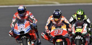 Andrea Dovizioso, Marc Marquez and Cal Crutchlow