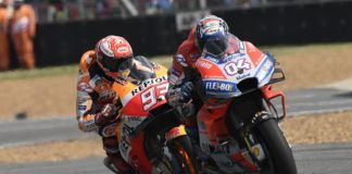 Andrea Dovizioso and Marc Márquez