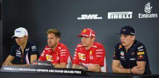Max Verstappen, Sebastian Vettel, Esteban Ocon