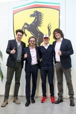 Mick Schumacher with the Ferrari family