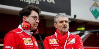 Mattia Binotto and Maurizio Arrivabene