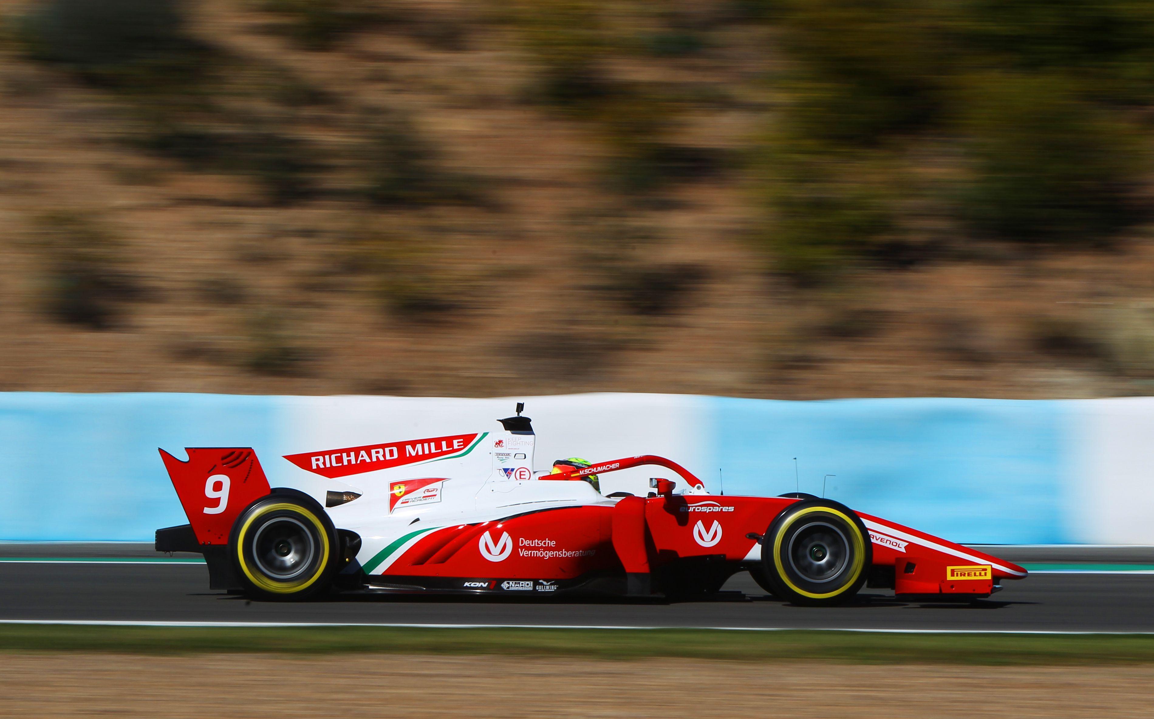 Jerez F2 2019 Test Schumacher Tops Final Day Despite Spin
