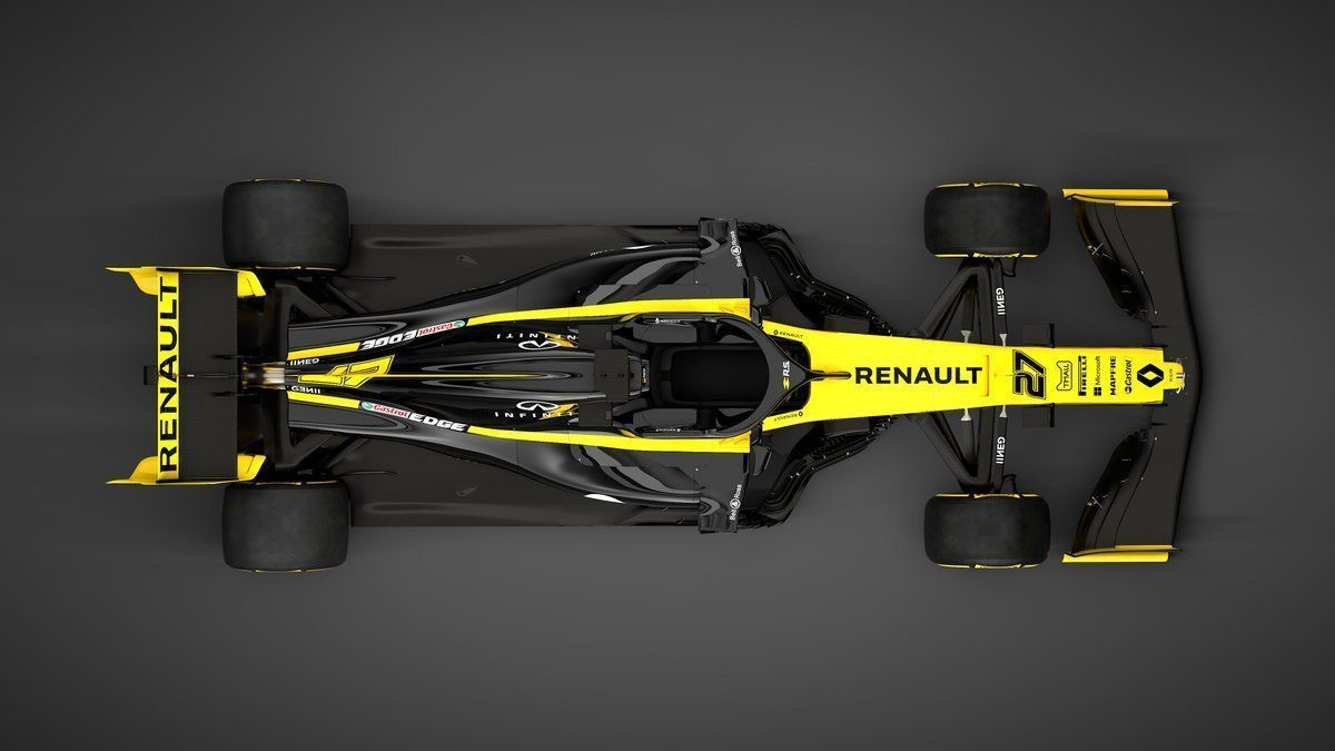 2019 Renault F1 car, livery