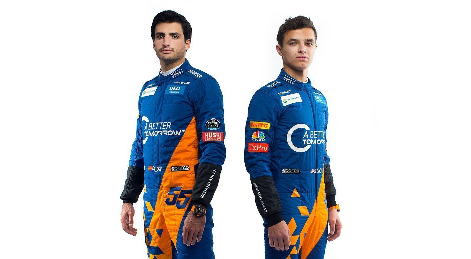New McLaren drivers' overalls