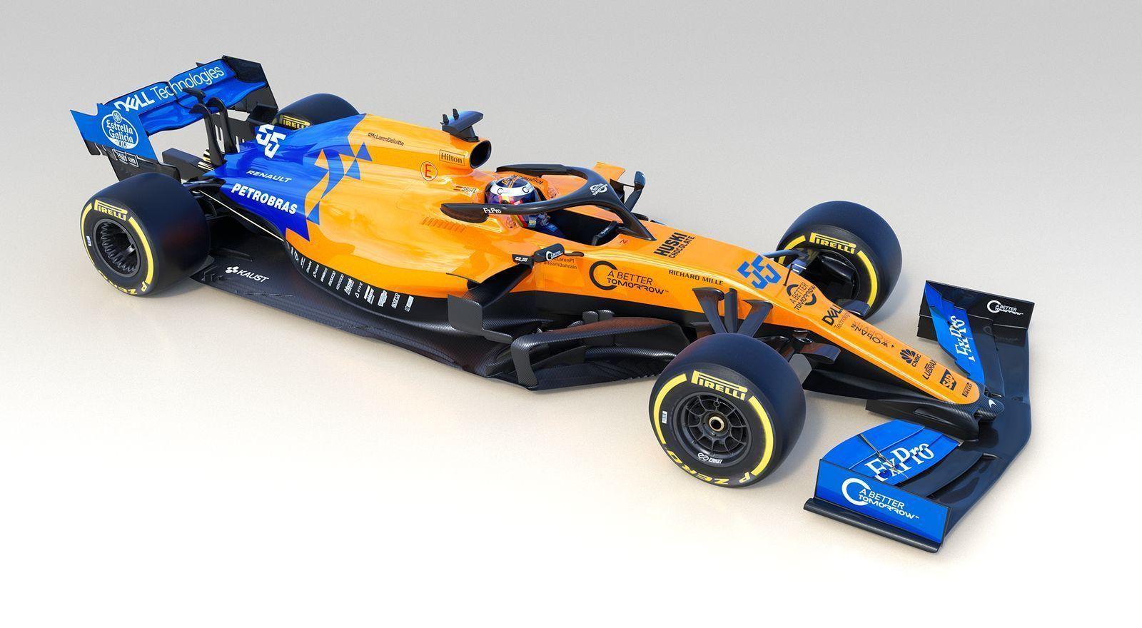 McLaren 2019 F1 car, livery