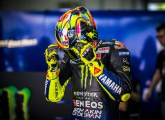 Valentino Rossi's current MotoGP helmet used in test