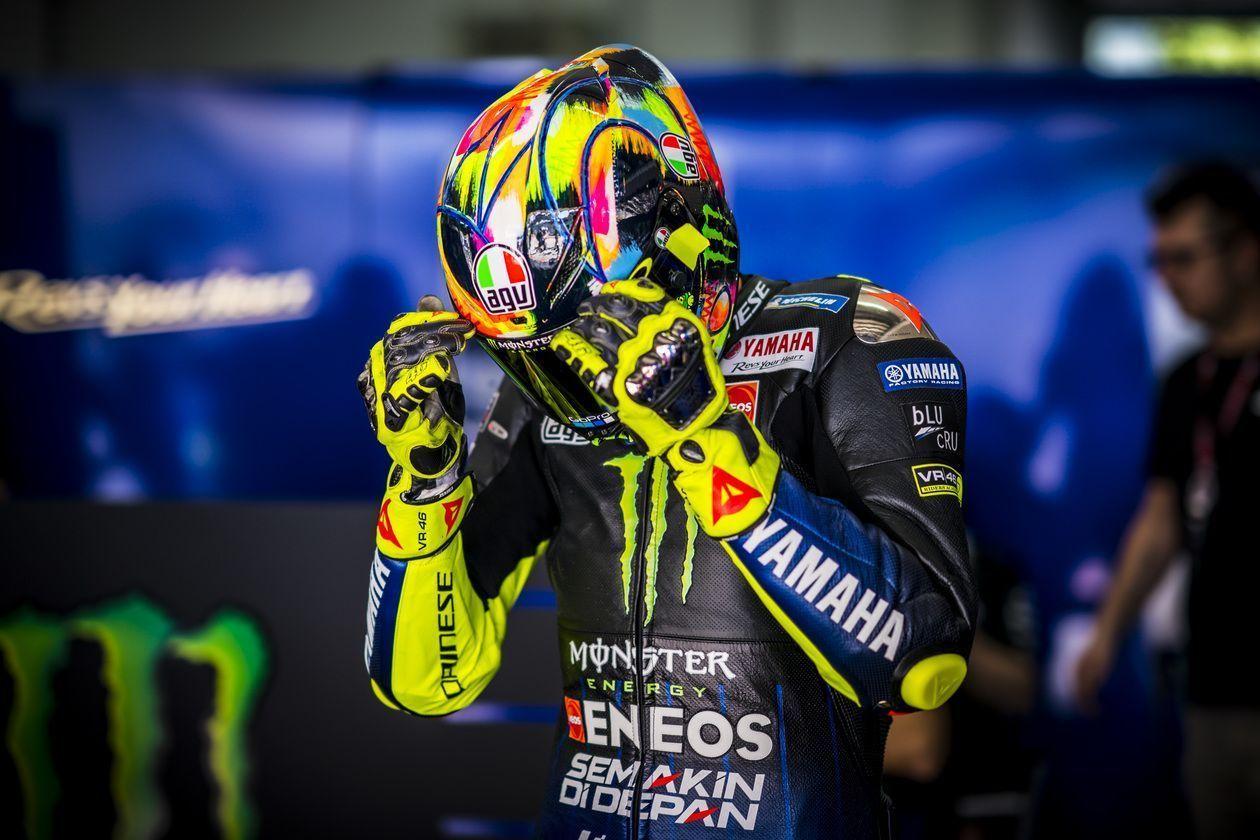 Valentino Rossi's current MotoGP helmet used in test