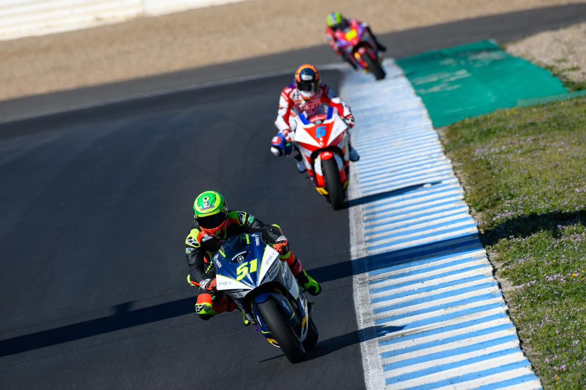 MotoE riders during test