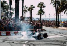 Renault F1 showruns before French GP