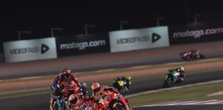 Andrea Dovizioso, Ducati leads the MotoGP pack