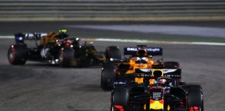 Max Verstappen ahead of Carlos Sainz