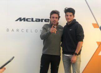Fernando Alonso with FA Racing Formula Renault Eurocup driver Brad Benavides