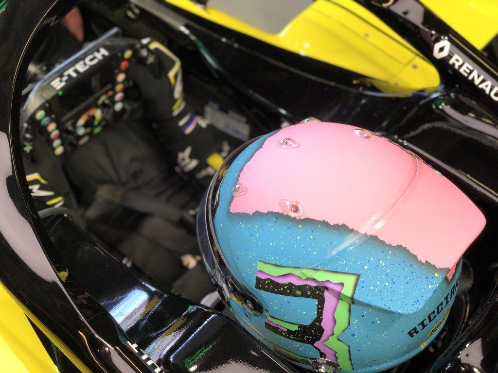 Daniel Ricciardo's cockpit