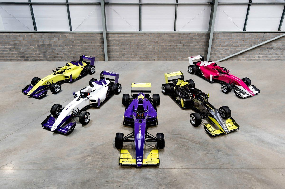 W Series cars colours