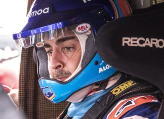 Fernando Alonso in Toyota Hilux
