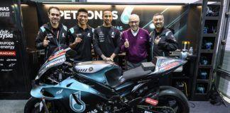Lewis Hamilton during MotoGP Qatar GP visit
