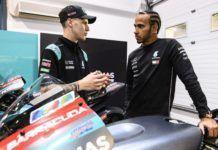 MotoGP rider Fabio Quartararo with Lewis Hamilton