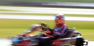 Lucas Pons from CRG during the WSK Super Master Series in Circuito Internazionale di Napoli at Sarno