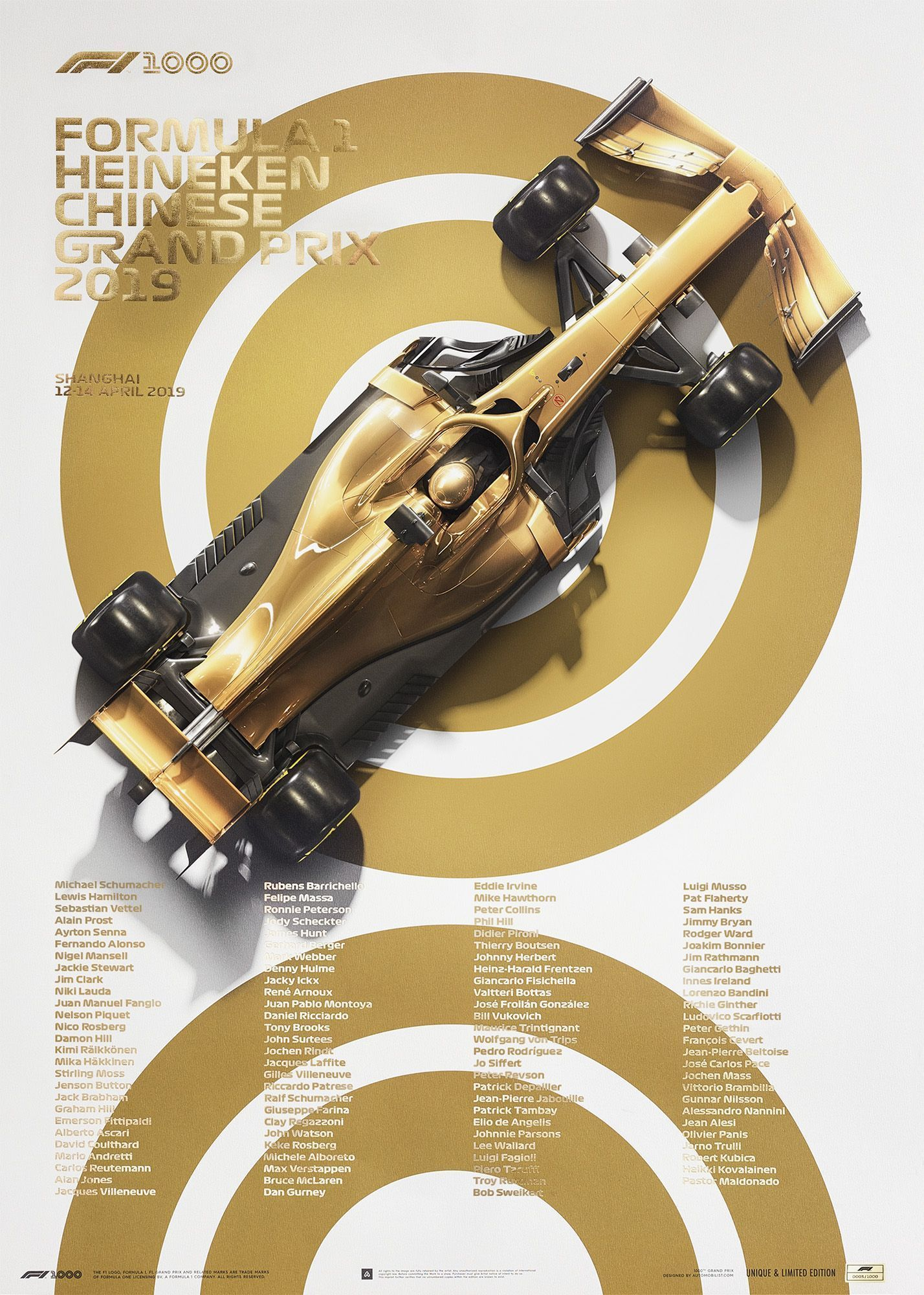 Poster 1 in white and gold