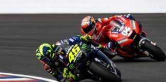 Valentino Rossi ahead of Andrea Dovizioso