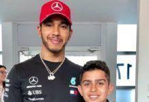 Lewis Hamilton with Rashid Al Dhaheri
