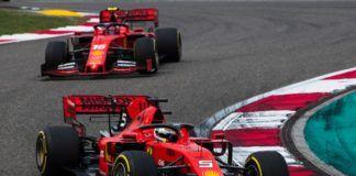 Sebastian Vettel ahead of Charles Leclerc, Ferrari, F1 Chinese GP