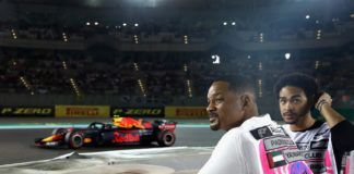 Will Smith and his son watches Abu Dhabi F1 race