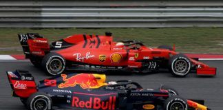 Max Verstappen up against Sebastian Vettel