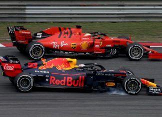 Max Verstappen up against Sebastian Vettel