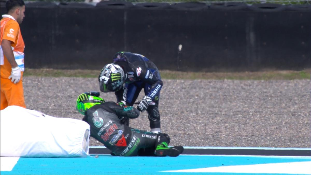 Maverick Vinales and Franco Morbidelli