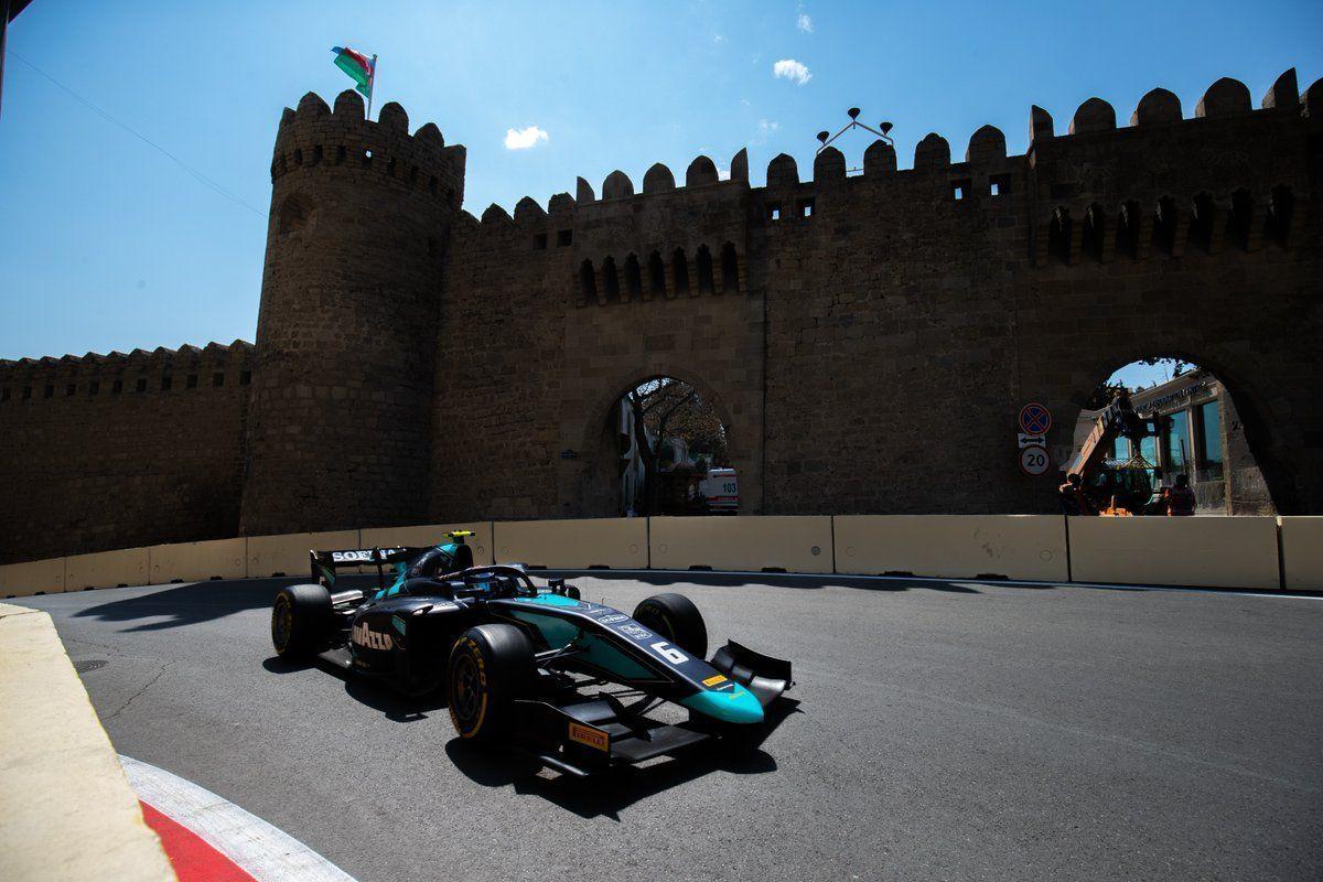 F2: Latifi survives safety car re-starts to win Baku sprint race