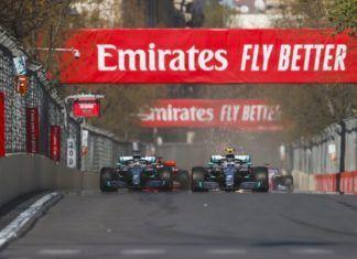 Lewis Hamilton and Valtteri Bottas, Azerbaijan GP, Mercedes
