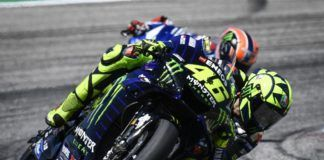 Valentino Rossi with Alex Rins, MotoGP