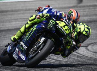 Valentino Rossi with Alex Rins, MotoGP
