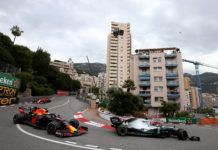Lewis Hamilton from Max Verstappen, F1 Monaco GP