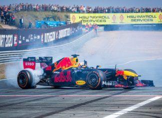 Max Verstappen and Pierre Gasly, F1 showrun at Zandvoort