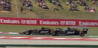 Kevin Magnussen and Romain Grosjean fight