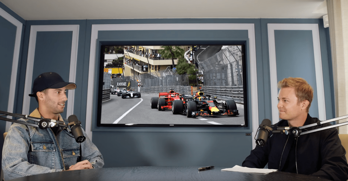 Daniel Ricciardo with Nico Rosberg, F1