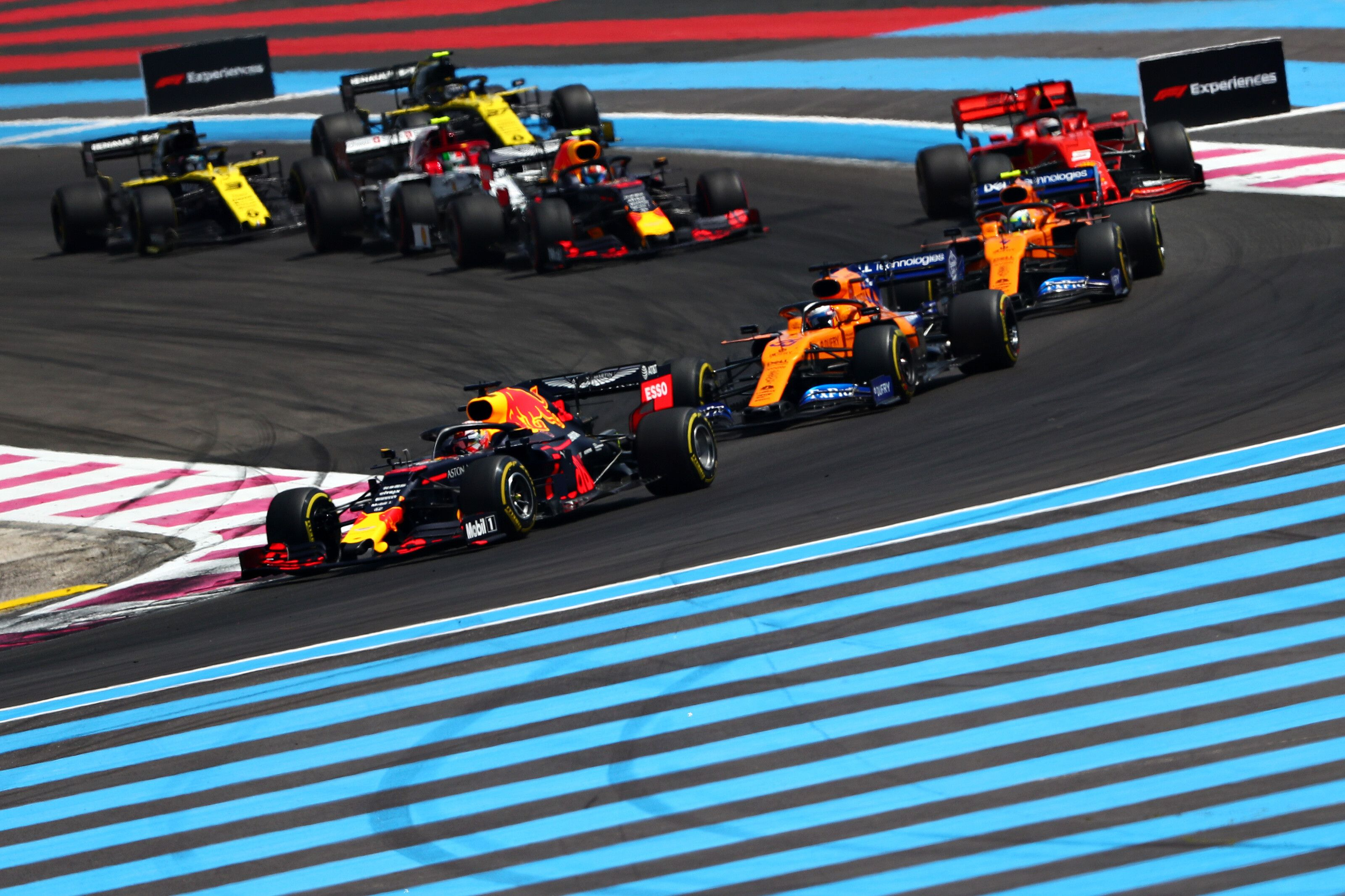 Max Verstappen, Pierre Gasly in the pack