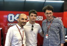 F1 Charles Leclerc, Mattia Binotto at MotoGP