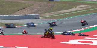 Catalan GP crash, Jorge Lorenzo, Andrea Dovizioso, Maverick Vinales, Valentino Rossi, MotoGP
