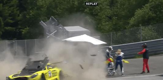 Fabian Vettel crash, ADAC GT Masters
