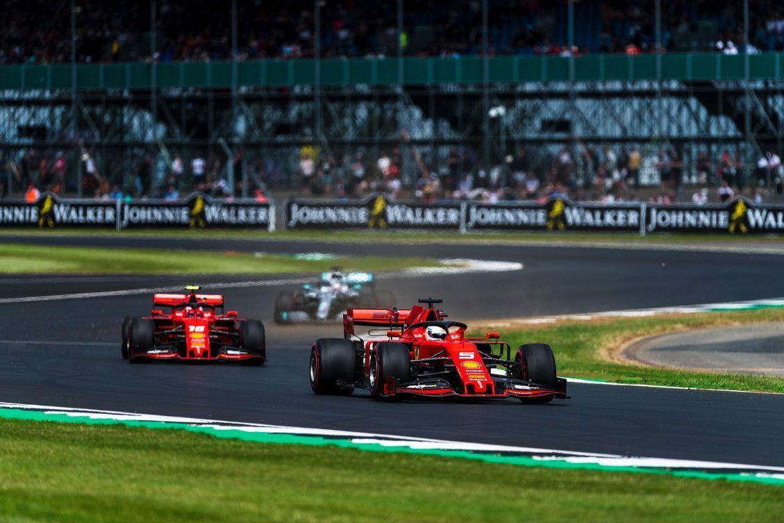 Charles Leclerc, Sebastian Vettel, Ferrari, F1