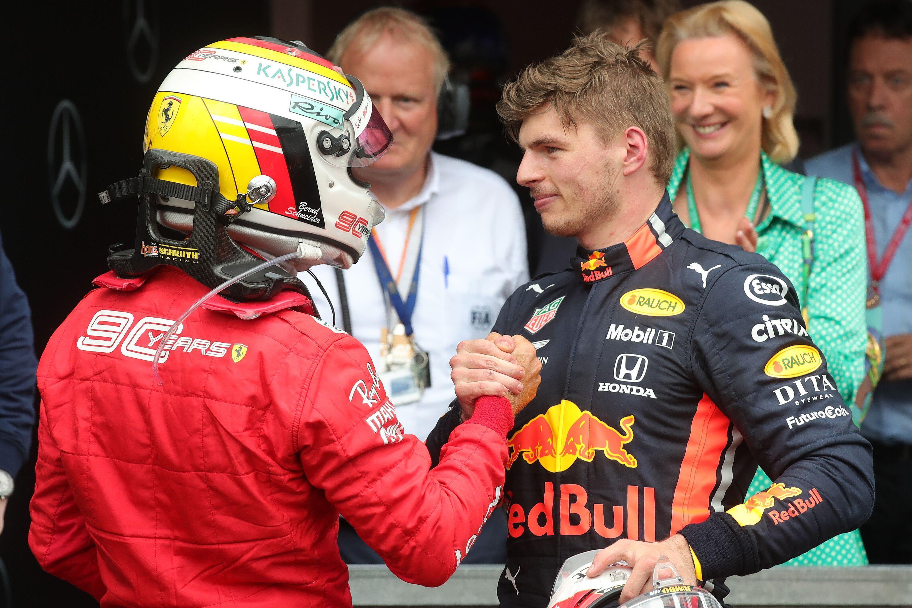 Sebastian Vettel, Max Verstappen, F1, German GP